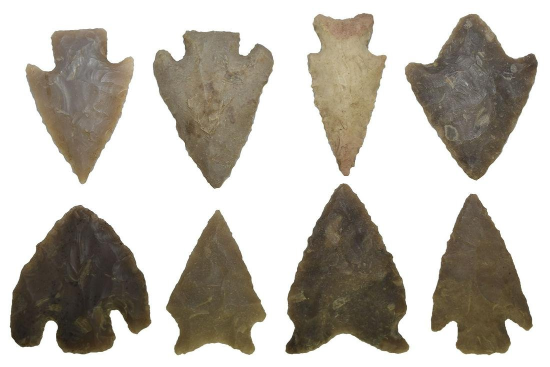 """Group of 8 Texas Points (1 5/8""""-2"""").  A variety of"""