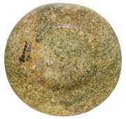 """3 3/4"""" Cupped Discoidal. Brown Co, IL. Granite."""