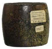 """2 1/2"""" D. Barrel Discoidal. Davis COA. Hamilton Co,"""