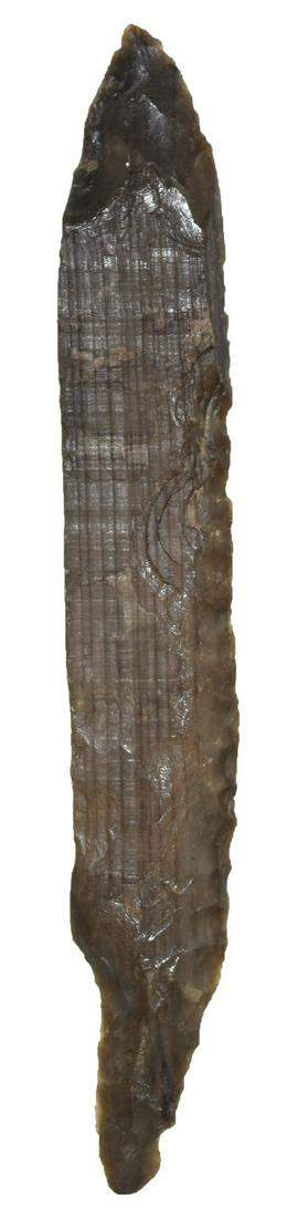 "5 5/16"" Side Knife.  Rogers COA.  MT.   Petrified Wood."