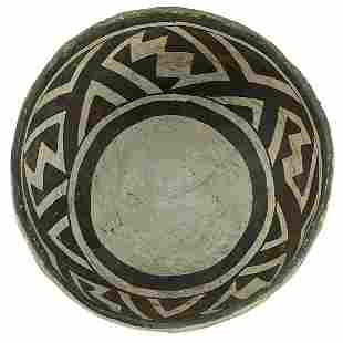"""6 1/2"""" D. Mimbres Bowl. Bold Face Style, the earliest"""