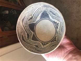 "5 7/8"" Anasazi Black and White Bowl. AZ. Wonderful,"