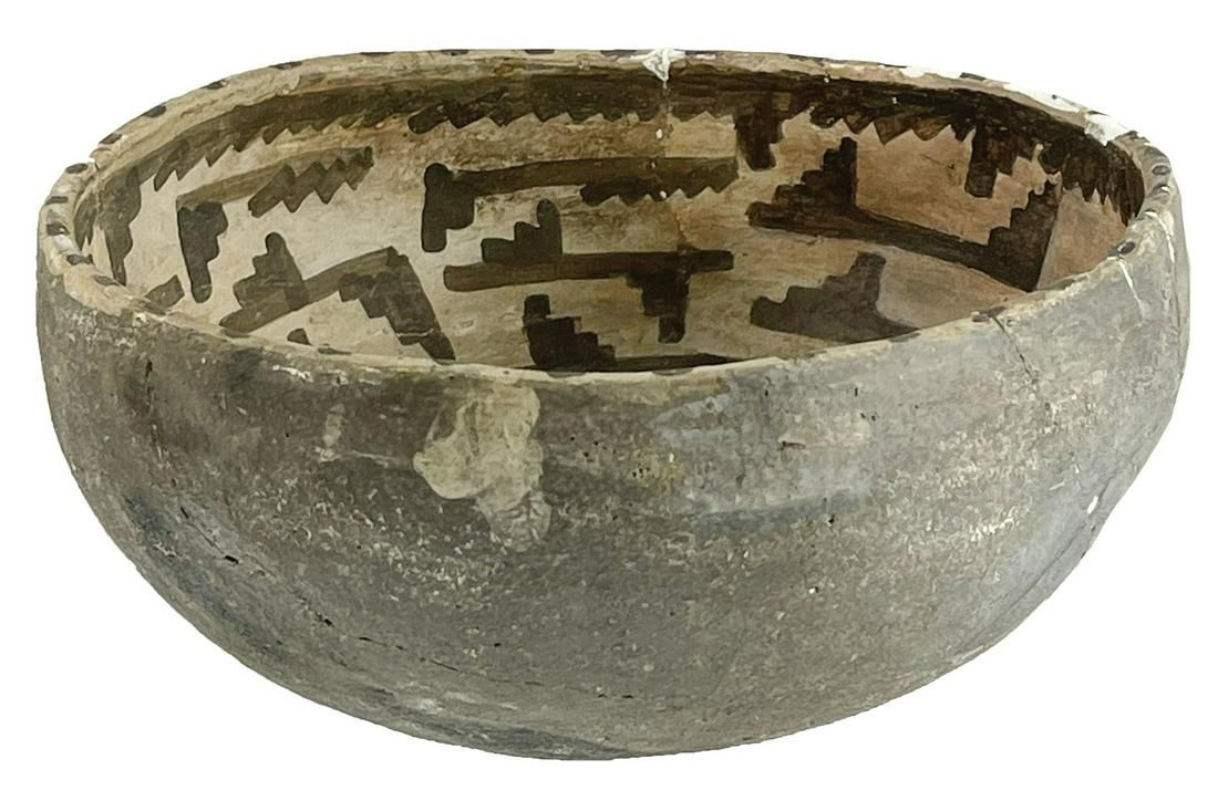 "6"" D. Anasazi Black and White Bowl. AZ/NM. Hard to"