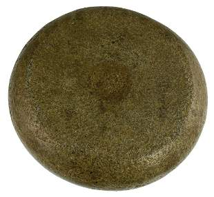 """Large and well made 7 1/4"""" D. Dimpled Discoidal. TN."""