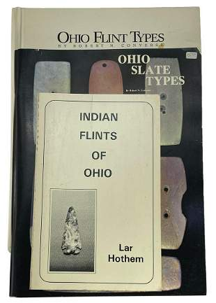 3 Ohio Books: Ohio Flint Types , Ohio Slate Types,