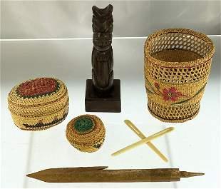 Group of 6 Northwest Coast Artifacts