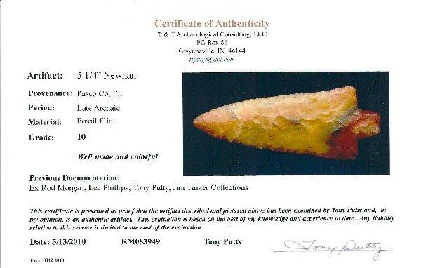 """326: Colorful 5 1/4"""" Newnan.  FL.  Perino Paper - 4"""