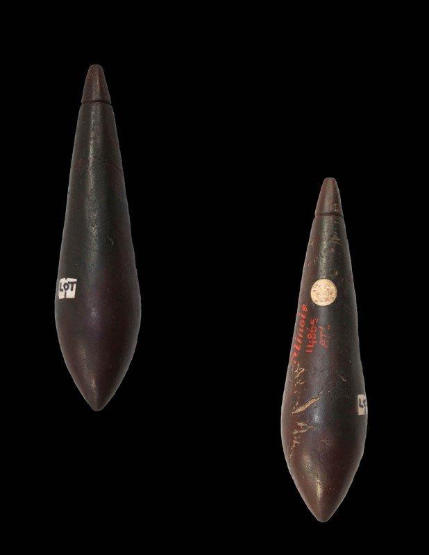 "5: 4 1/8"" Hematite Plummet.  IL.  Davis Paper.  Picture"