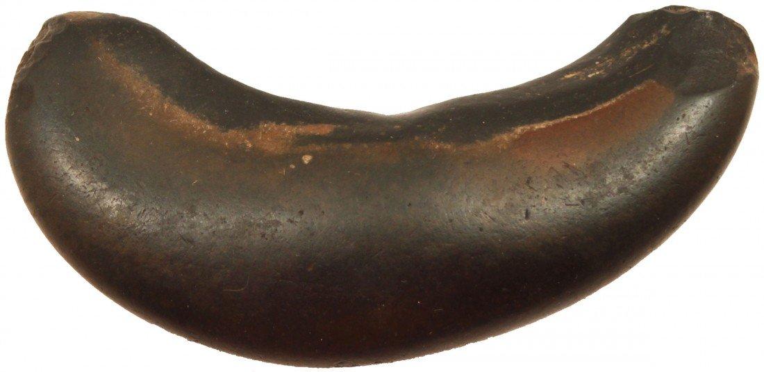 """2: 4 5/8"""" Polished Stone Crescent Pendant.  Orange Co,"""