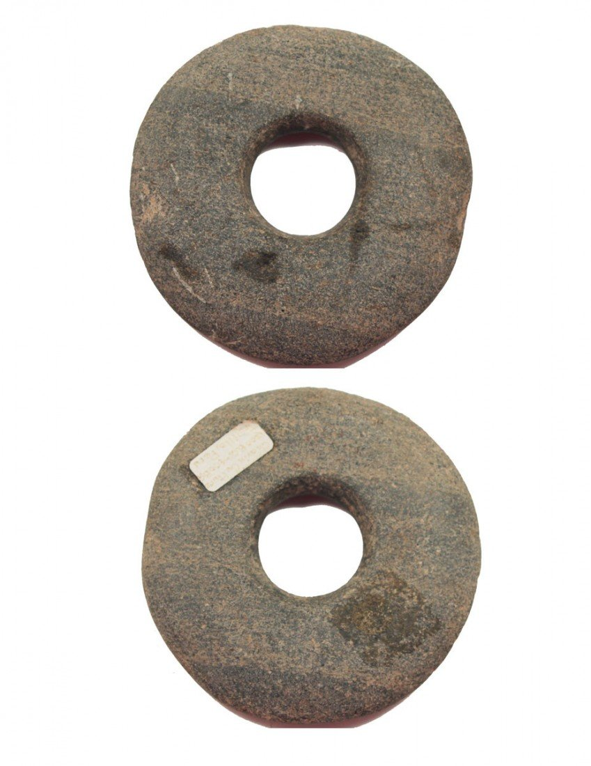 "12: Rare 4 1/4"" Stone Disk.  Chavin Culture, Peru.  500"