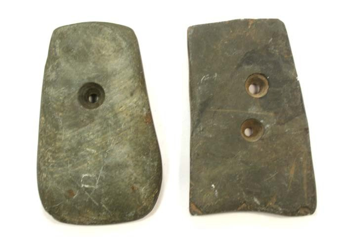 """7: 3 1/2"""" Gorget and Pendant.  Rush Co, IN"""