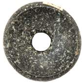 """268: 1 7/8"""" Perforated Cahokia Discoidal. Pictured WW#"""