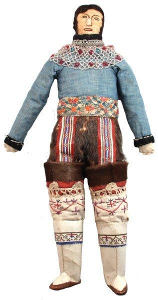 18 u201d greenland inuit cloth doll original clothes
