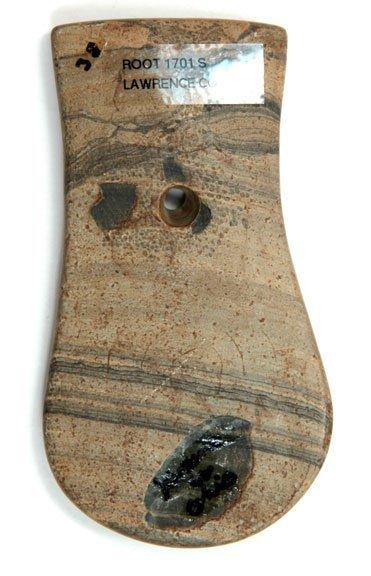 164: Engraved Keyhole Pendant.  OH.  Root. Davis COA