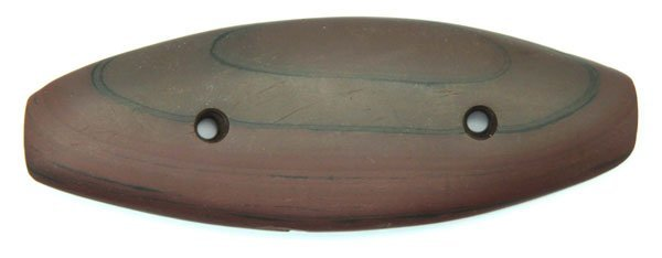 """5"""" Red Slate Gorget.  OH.  Pictured.  Ex-Lar Hothem"""