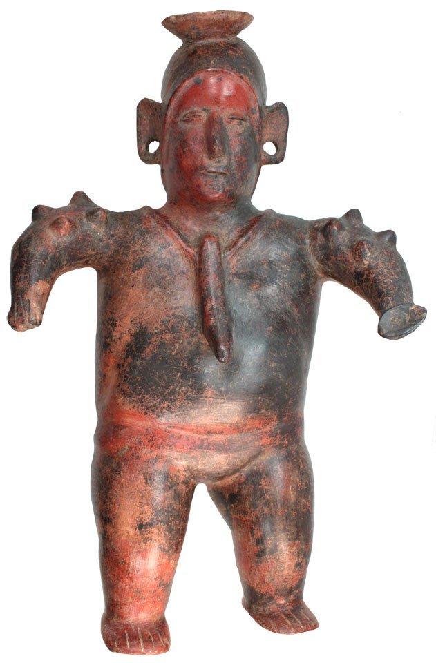 """17 3/4"""" Male Figurine.   Colima, MX.  250BC-250AD."""
