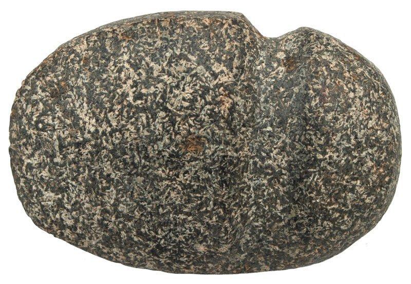 "4 3/16"" 3/4 Groove Axe.  Cass Co, IL.  Granite."