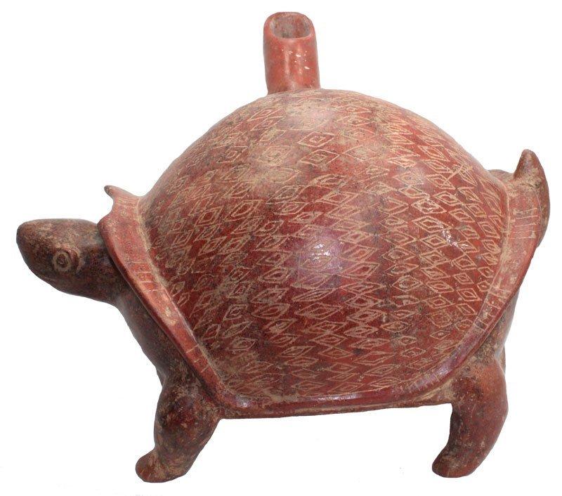 "14 1/4"" Colima Turtle.  MX.  Appraised by Dockstader."