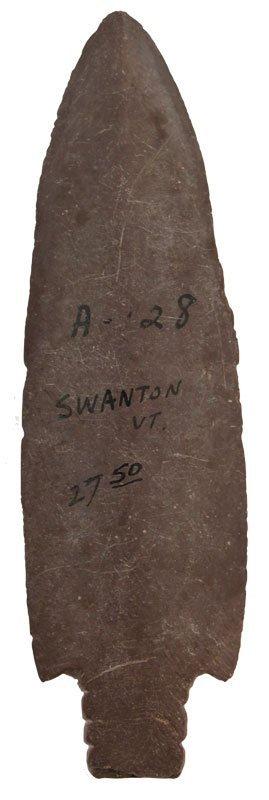 """4 5/8"""" Slate Spear.  Swanton, VT"""