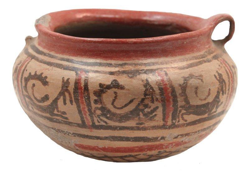 """6 1/2"""" D. Nayarit Painted Bowl.  MX.  100 BC to 500 AD."""