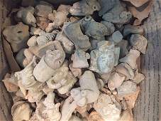Box of ~120 Pre-Columbian Pottery Figure Heads and
