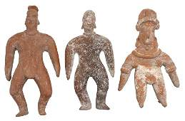 3 Clay Figures Dating approximately 2000 years in age