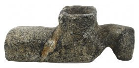 "2 11/16"" Steatite Bird Effigy Pipe. Old Example With"