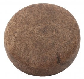 """3 3/4"""" Biscuit Discoidal. Midwest. Granite (could Be"""