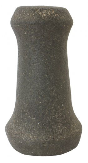 """7 1/16"""" Knobbed Pestle. St. Clair Co, Il. Highly"""