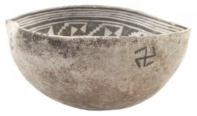 "9"" D. Anasazi Pouring Bowl. Az. Shaped To Facilitate"