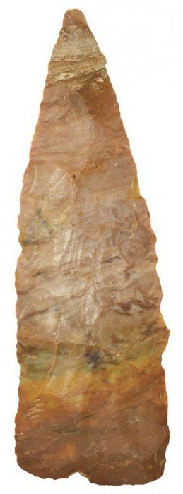 """5 5/16"""" Paleo Knife. Ky. Carter Cave. Lateral"""
