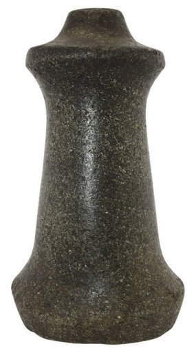 "7"" Northwest Coast Pestle. Well Made, Greenish"