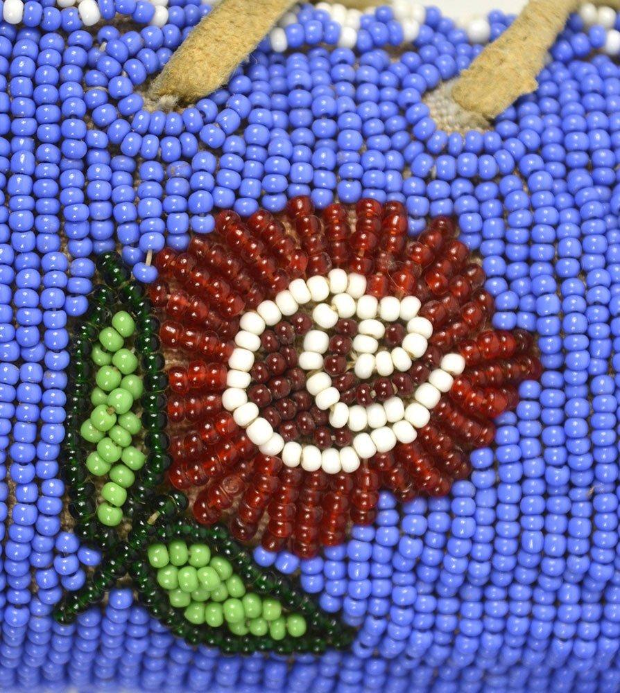 Fully beaded Plateau Nez Perce Child's Moccasins. - 8