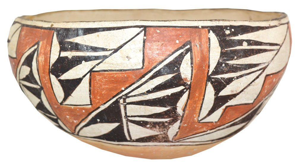 """8 1/2"""" D. Acoma Bowl.  NM.  Older example (1910-1930)"""