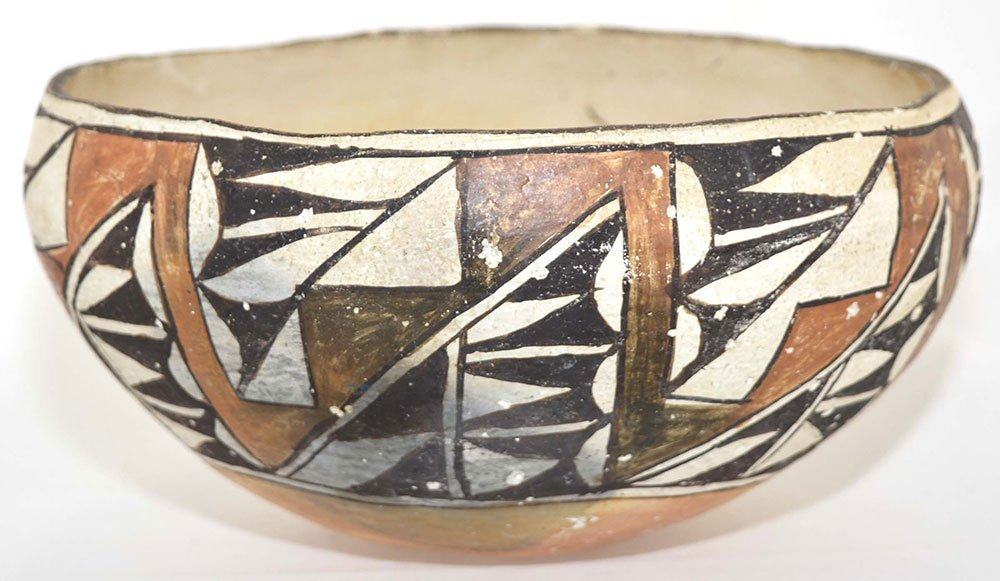"""8 1/2"""" D. Acoma Bowl.  NM.  Older example (1910-1930) - 2"""