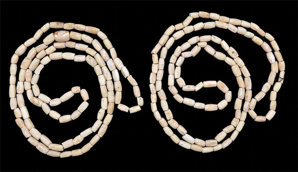 2 Polished Bead Necklaces.  Spiro Mound.  LeFlore Co,