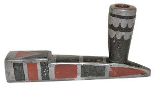 """33 5/8"""" (overall) Ojibwa Chief's Twisted Pipe Stem and"""