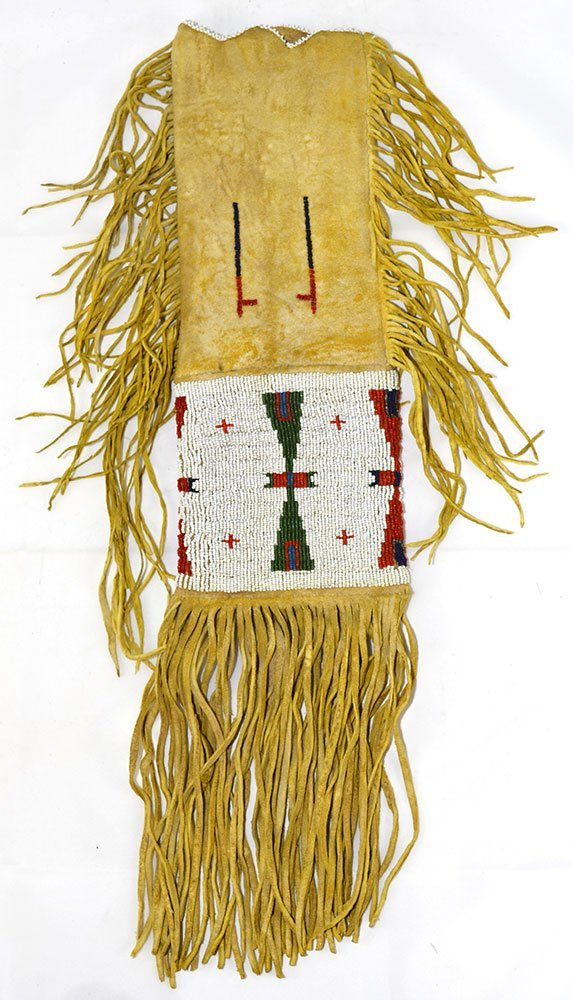 "20"" (with fringe) Sioux  Beaded Pipe Bag.   Early - 2"
