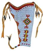 10 12 Fully Beaded Holster with leather back