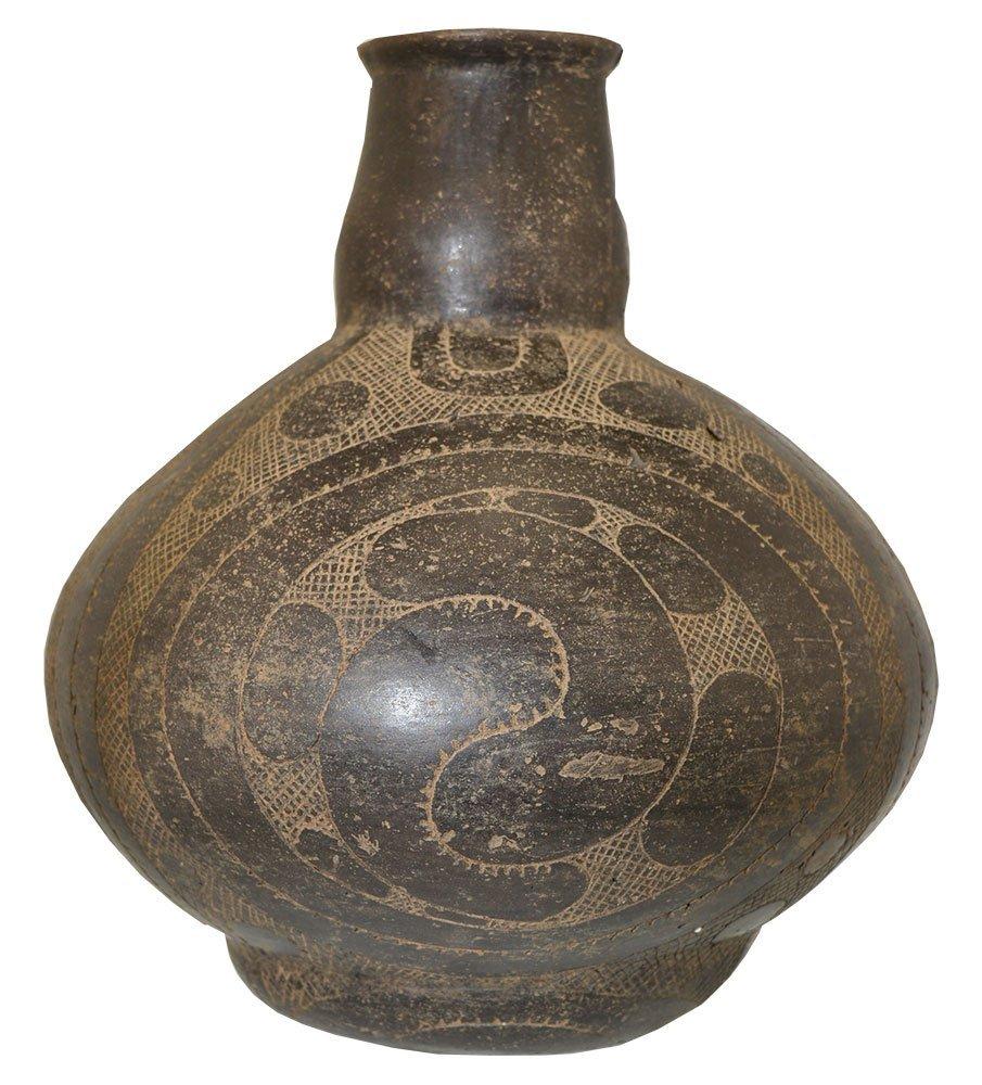 """Large (9"""" H.) Caddo Hodges Engraved Bottle.  AR.  Davis"""