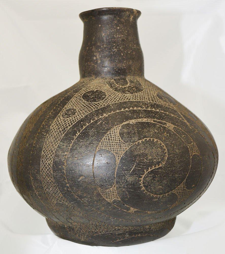 """Large (9"""" H.) Caddo Hodges Engraved Bottle.  AR.  Davis - 2"""