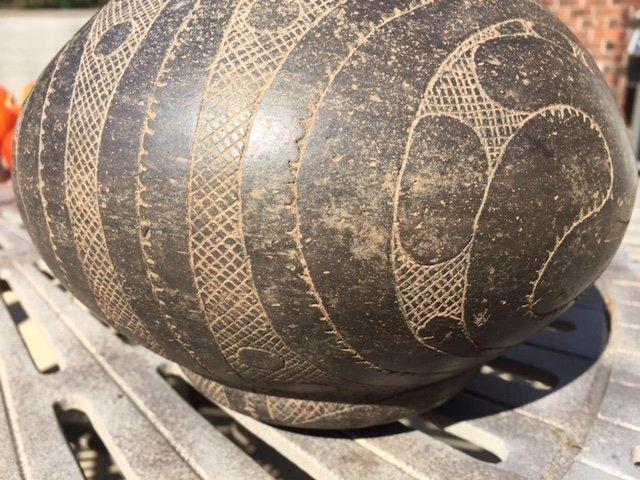"""Large (9"""" H.) Caddo Hodges Engraved Bottle.  AR.  Davis - 6"""