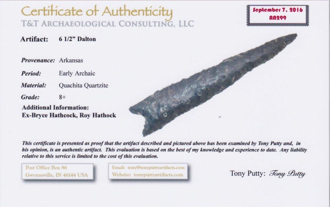 """5 1/2"""" Dalton.  AR.  Some lateral bow.  Quartzite - 3"""