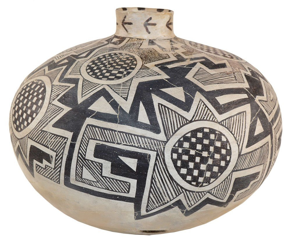 "15"" D. Anasazi Olla.  Tularosa Black on White."