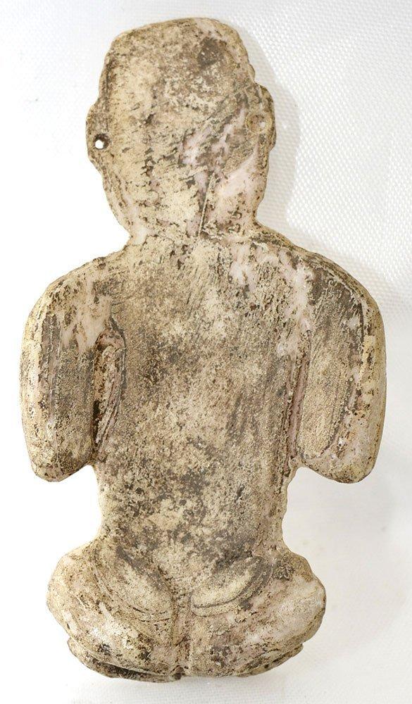 "Rare 2 3/4"" Olmec Human Effigy Shell Carving. - 2"