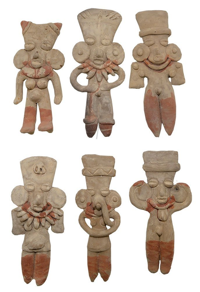 Excellent group of 6 Western Mexico Figurines (500 BC