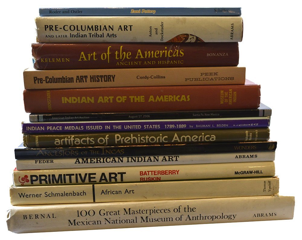 13 Books relating primarily to Pre-Columbian Artifacts