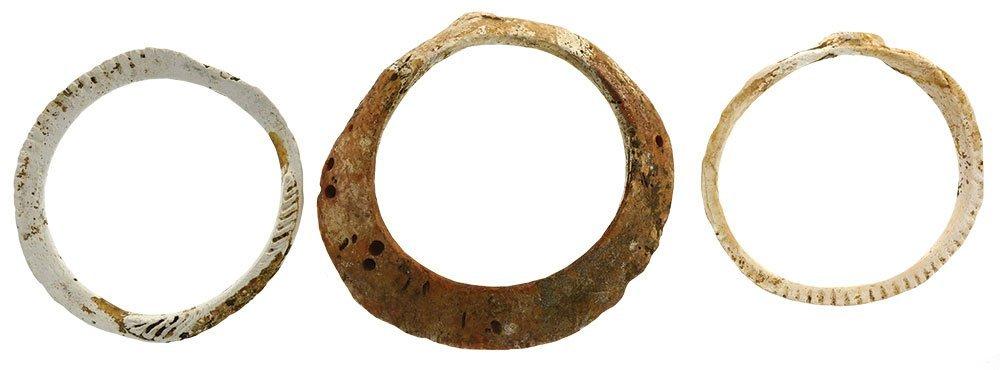 Three Shell Bracelets.  AZ/NM.  Fine condition.  Ex-Leo