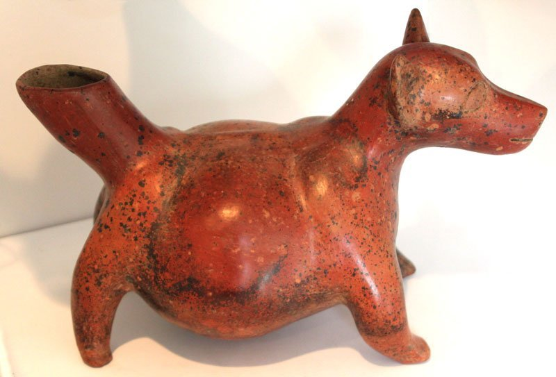 "Large (15"" L.) Round Bellied Techichi Dog.  Colima, MX. - 2"