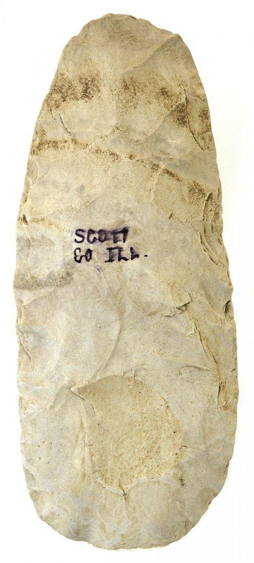 "7 1/2"" White Flint Spade.  Scott Co, IL.   Ex-Tom - 2"